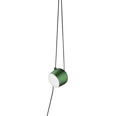 Illuminazione - Lampadari - Lampada AIM LED - / Da appendere - Collegamento alla rete / Ø 24 cm di Flos - Verde Ivy anodizzato - Alluminio, policarbonato