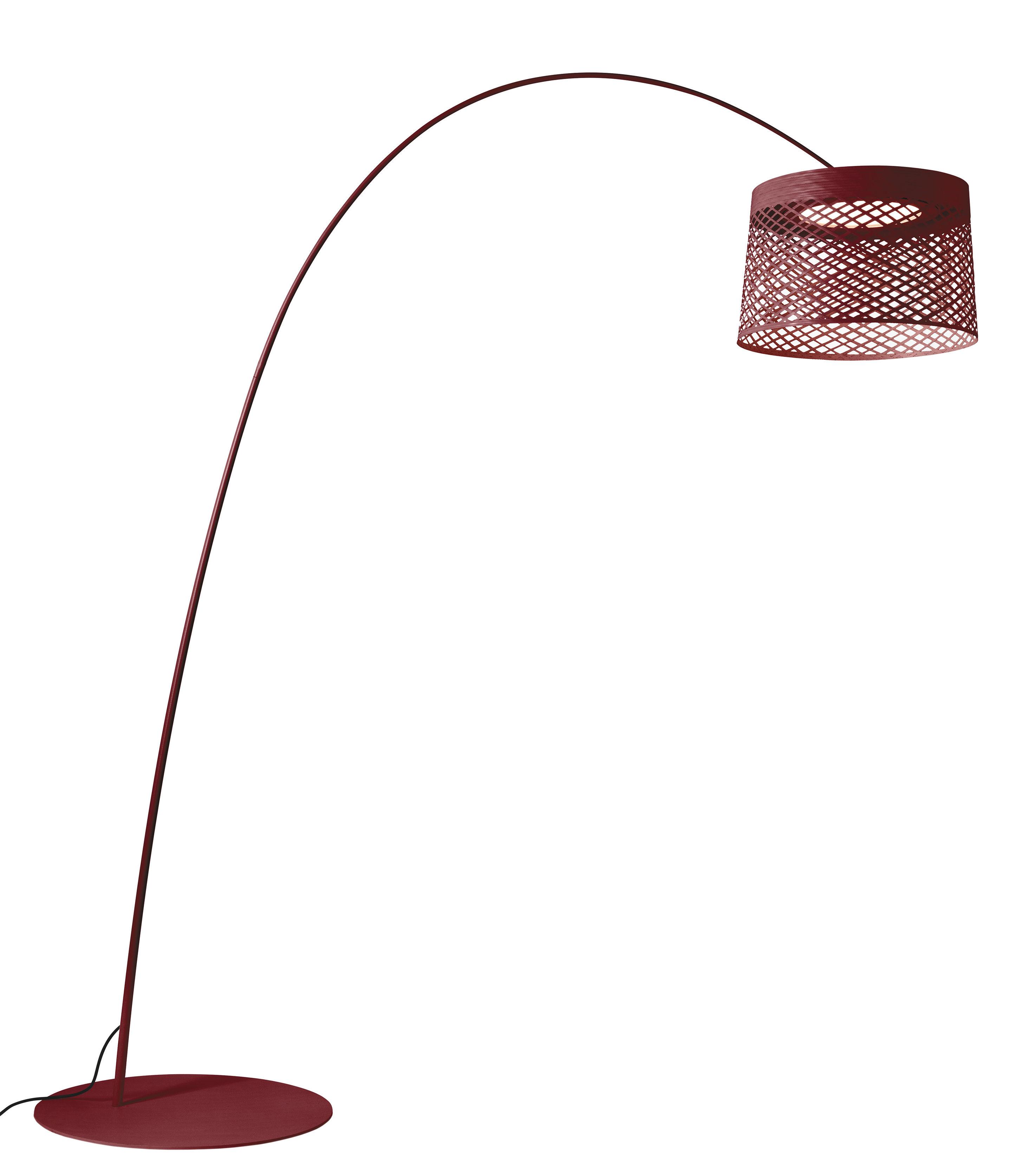 Luminaire - Lampadaires - Lampadaire Twiggy Grid LED Outdoor / Ø 46 x H 29 cm - Foscarini - Carmin - Fibre de verre, Matériau composite, Métal verni