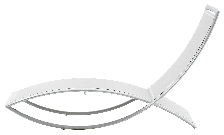 Outdoor - Liegen und Hängematten - Fish Liege - EGO Paris - Stoff weiß / Gestell weiß - Batyline® Bespannung, lackiertes Aluminium