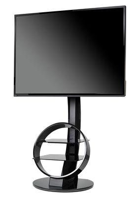 Meuble TV Circle / Inclinable & orientable - Ateca noir en verre
