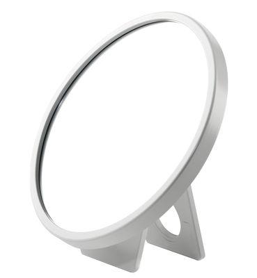 Mobilier - Miroirs - Miroir à poser Kali / Grossissant - Ø 16,5 cm - Authentics - Blanc - Polycarbonate