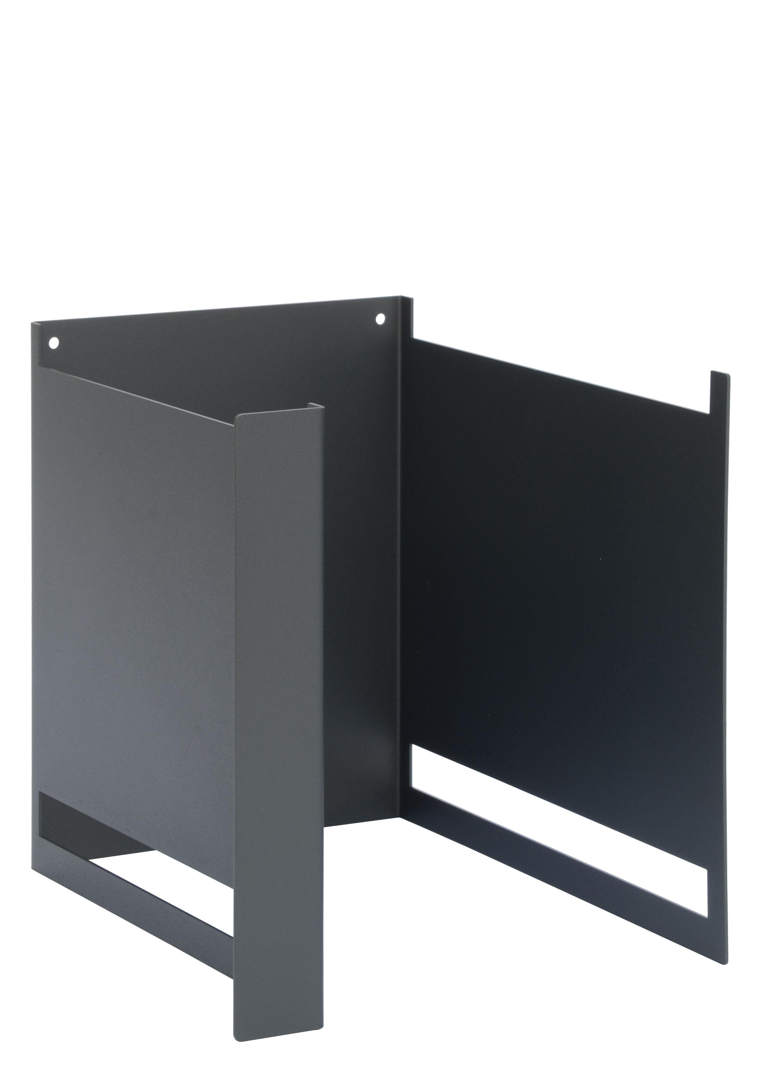 Mobilier - Etagères & bibliothèques - Montant Plio Ba / H 24 cm - Pour fabriquer une étagère - Presse citron - Gris ardoise - Acier laqué