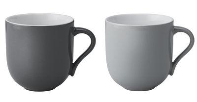 Mug Emma / Lot de 2 - 380 ml - Stelton gris clair,gris foncé en céramique