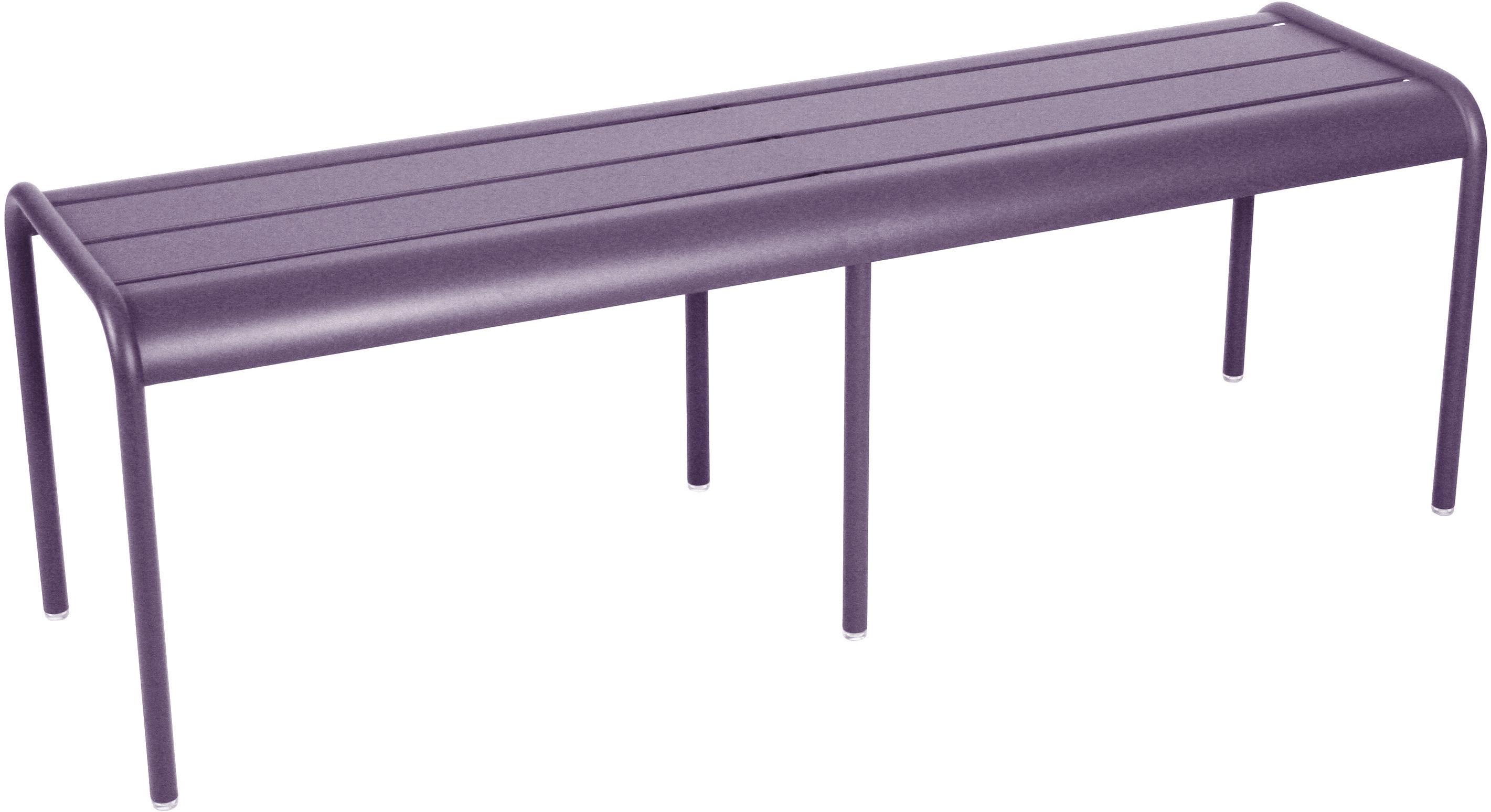 Life Style - Panchina Luxembourg - 3/4 posti / Senza schienale - L 145 cm di Fermob - Prugna - Alluminio laccato