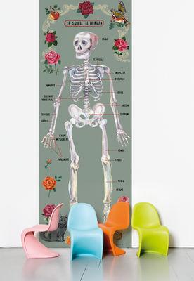 Déco - Stickers, papiers peints & posters - Papier peint Le squelette humain / 1 lé - Domestic - Squelette / Multicolore - Papier intissé