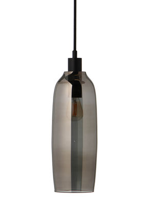 Lighting - Pendant Lighting - Kyoto Slim Pendant - / Ø 10 x H 31 cm by Frandsen - Smoked grey - Glass