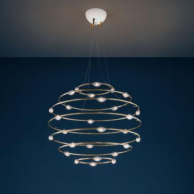Lighting - Pendant Lighting - Petits Bijoux 28 Pendant - / LED - Ø 75 cm by Catellani & Smith - Ø 75 cm / Brass - Brass, Glass