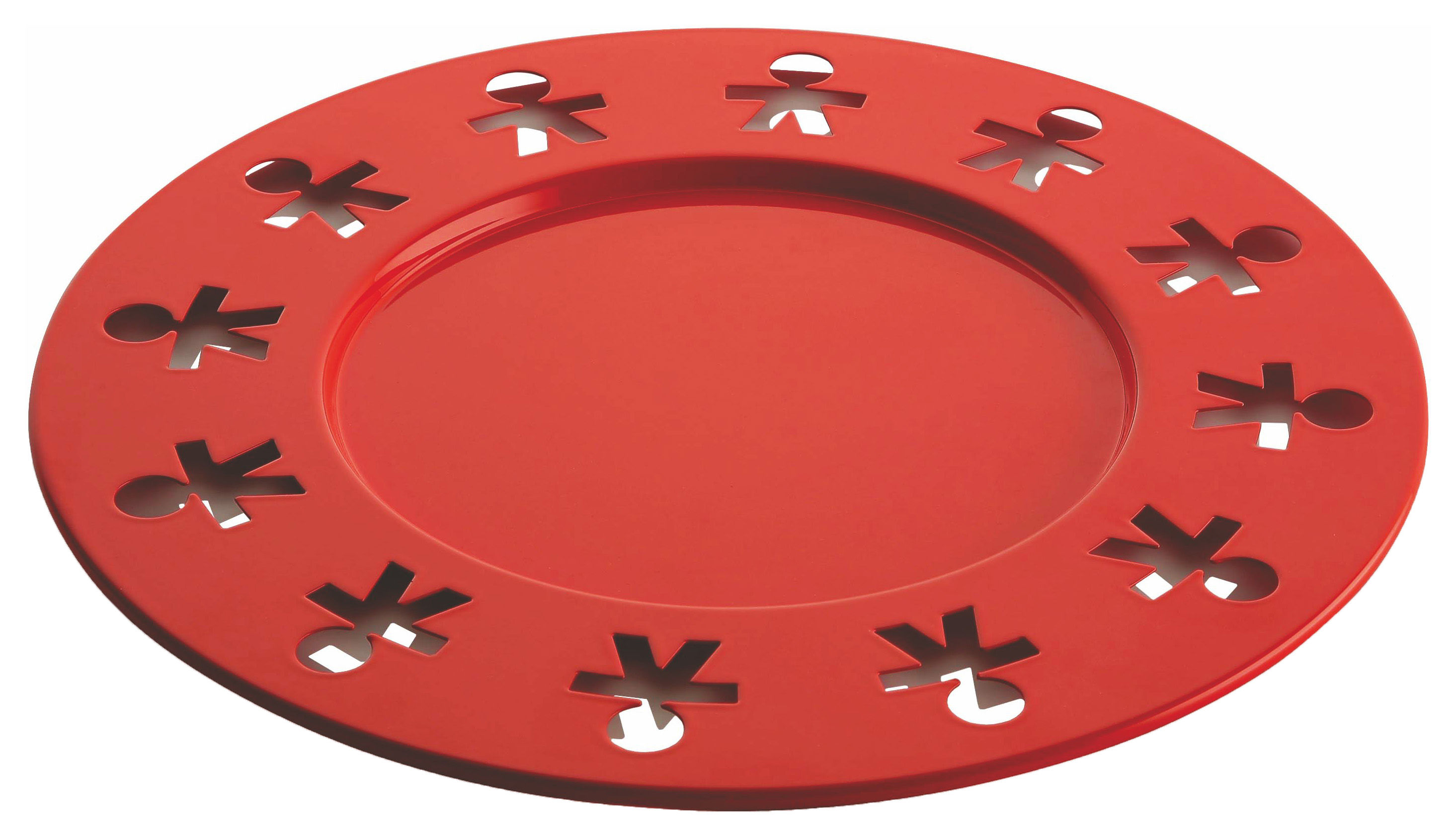 Tableware - Trays - Girotondo Poplike Placemat - Serving dish Ø 31,5 cm by A di Alessi - Pop orange - Stainless steel