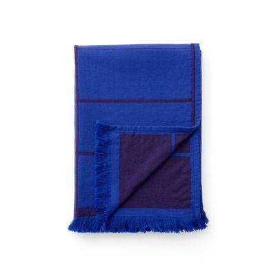 Déco - Textile - Plaid Untitled AP10 / 150 x 210 cm - &tradition - Bleu électrique - Coton, Laine, Polyamide, Viscose