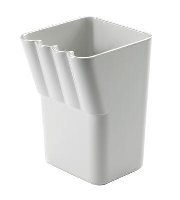 Déco - Salle de bains - Porte-brosse à dents Kali - Authentics - Blanc - Mélamine