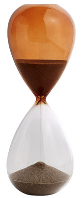 Sablier Time Large / 30 minutes - H 19,5 cm - Hay orange en verre
