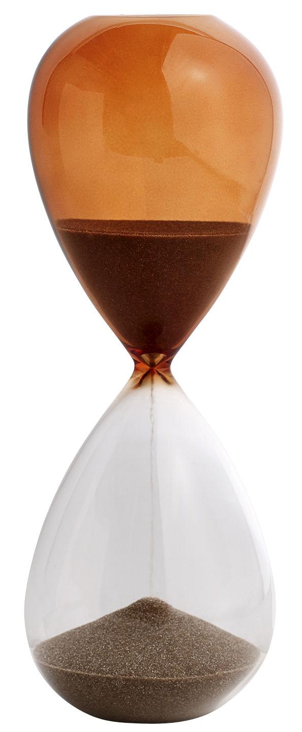 Déco - Objets déco et cadres-photos - Sablier Time Large / 30 minutes - H 19,5 cm - Hay - Orange - sable, Verre