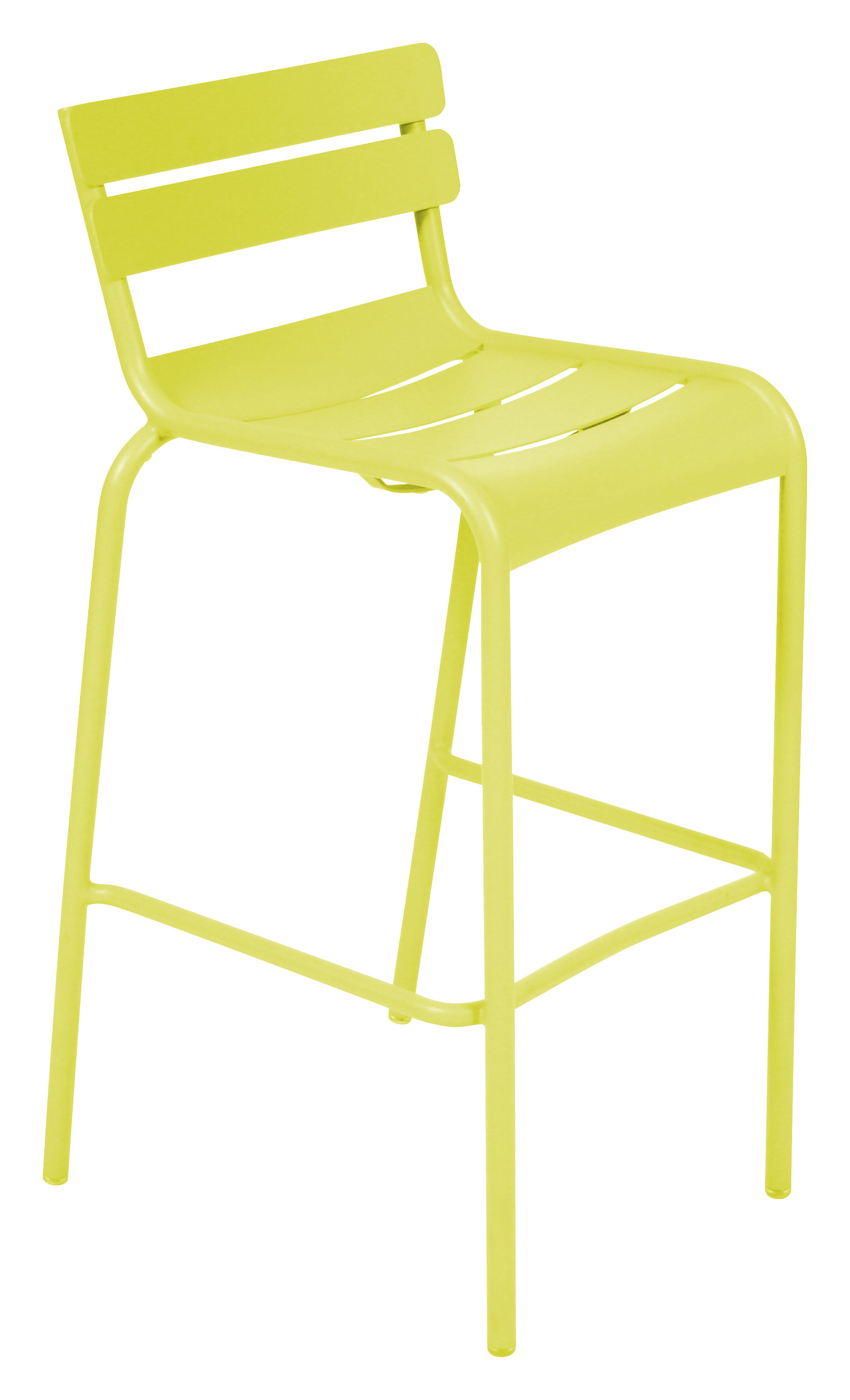 Life Style - Sedia da bar Luxembourg - / seduta A 80 cm di Fermob - Verbena - Alluminio laccato