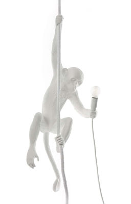 Illuminazione - Lampadari - Sospensione Monkey Hanging - / Indoor - H 80 cm di Seletti - Bianco - Resina