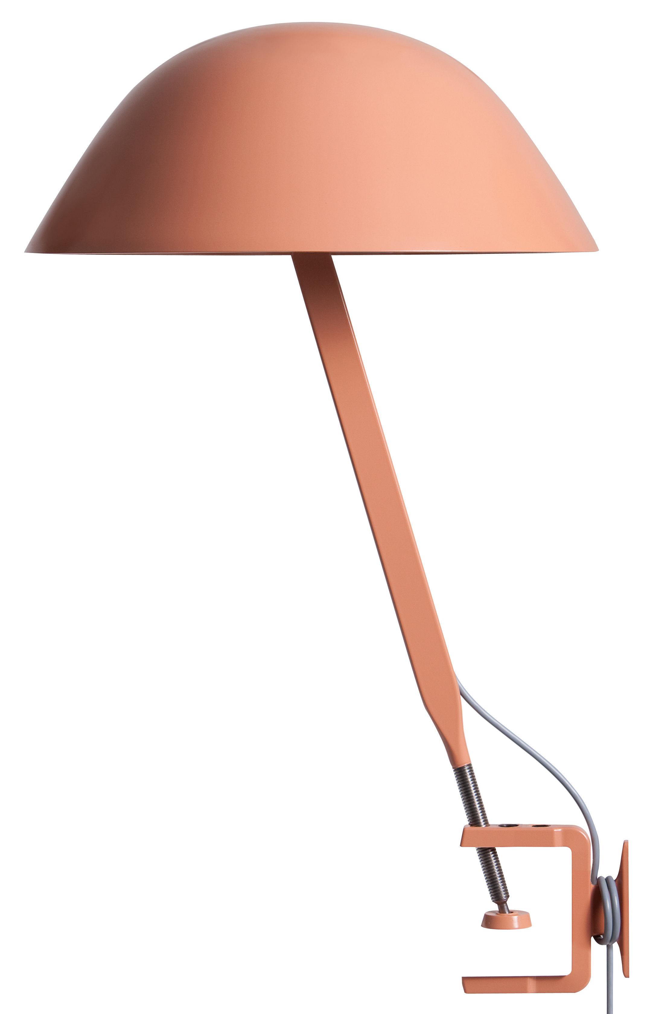 Luminaire - Lampes de table - Spot à pince Sempé w103c LED / Base étau - Wästberg - Beige rouge - Acier, Aluminium
