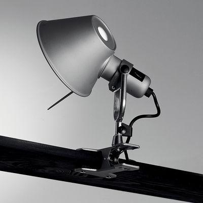Luminaire - Appliques - Spot à pince Tolomeo Pinza LED - Artemide - H 23 cm - Aluminium - Acier, Aluminium