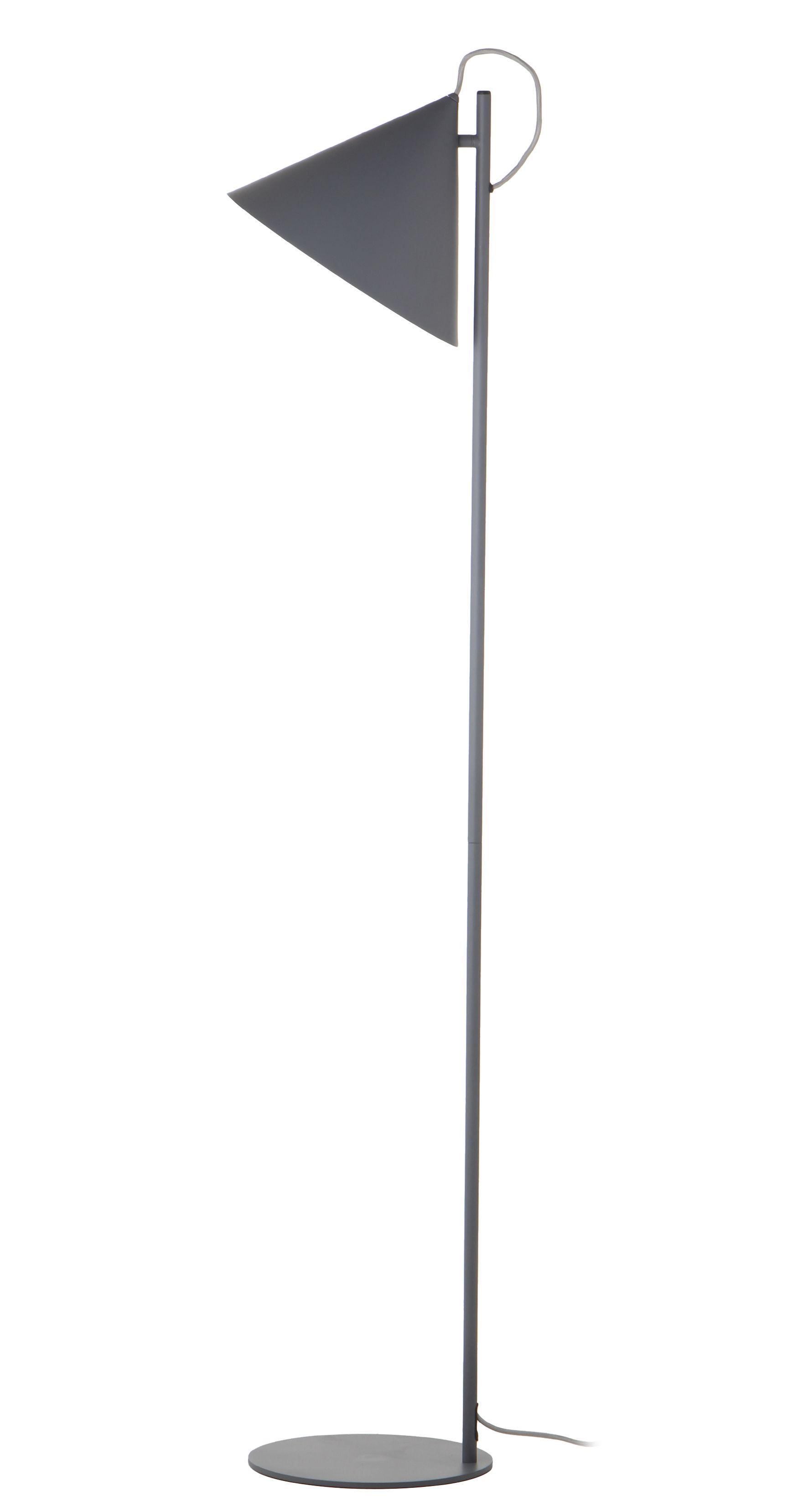 Leuchten - Stehleuchten - Benjamin Stehleuchte / H 152 cm - Frandsen - Grau, matt - bemaltes Metall