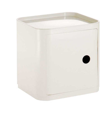 Furniture - Teen furniture - Componibili Storage - Square by Kartell - Ivory White - ABS