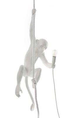Suspension Monkey Hanging Indoor H 80 cm Seletti blanc en matière plastique