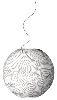 Luminaire - Suspensions - Suspension Planet Large / Ø 80 cm - Halogène - Foscarini - Blanc / Halogène - Tissu