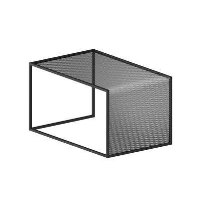 Table basse Tristano / 55 x 35 cm x H 30 cm - Résille d'acier - Zeus gris micacé en métal