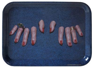 Tischkultur - Tabletts - Toiletpaper Tablett / Doigts coupés - 43 x 32 cm - Seletti - Abgeschnittene Finger - Melamin