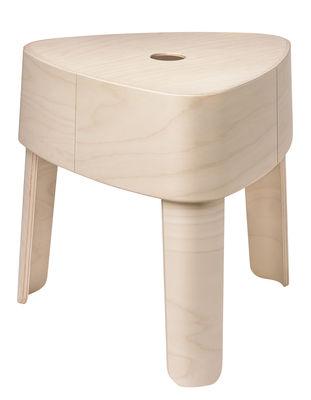 Mobilier - Tables basses - Tabouret empilable Plektra / Table d'appoint - H 40,9 cm - Iittala - Naturel - Contreplaqué