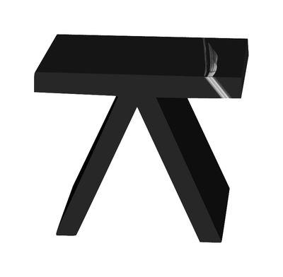 Arredamento - Tavolini  - Tavolino d'appoggio Toy - versione laccata di Slide - Laccato nero - Polietilene riciclabile laccato