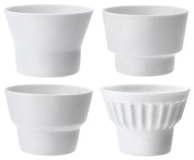 Tischkultur - Tassen und Becher - Governor Series - Greedy Mandarin Teetasse 4er Set - JIA - Weiß - Porzellan