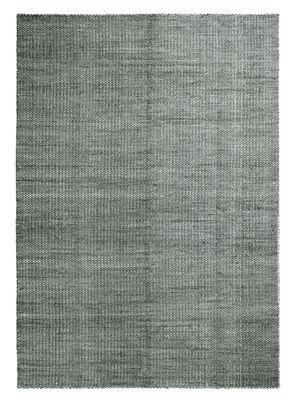 Moiré Kelim Large Teppich / 200 x 300 cm - handgewebt - Hay - Dunkelgrün