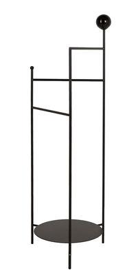 Mobilier - Compléments d'ameublement - Valet Gestus / Métal - H 125,5 cm - OK Design pour Sentou Edition - Noir - Métal laqué époxy