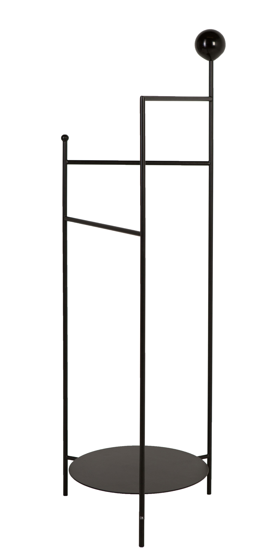 Arredamento - Complementi d'arredo - Valletto Gestus / Metallo - H 125,5 cm - OK Design per Sentou Edition - Nero - Metallo rivestito in resina epossidica