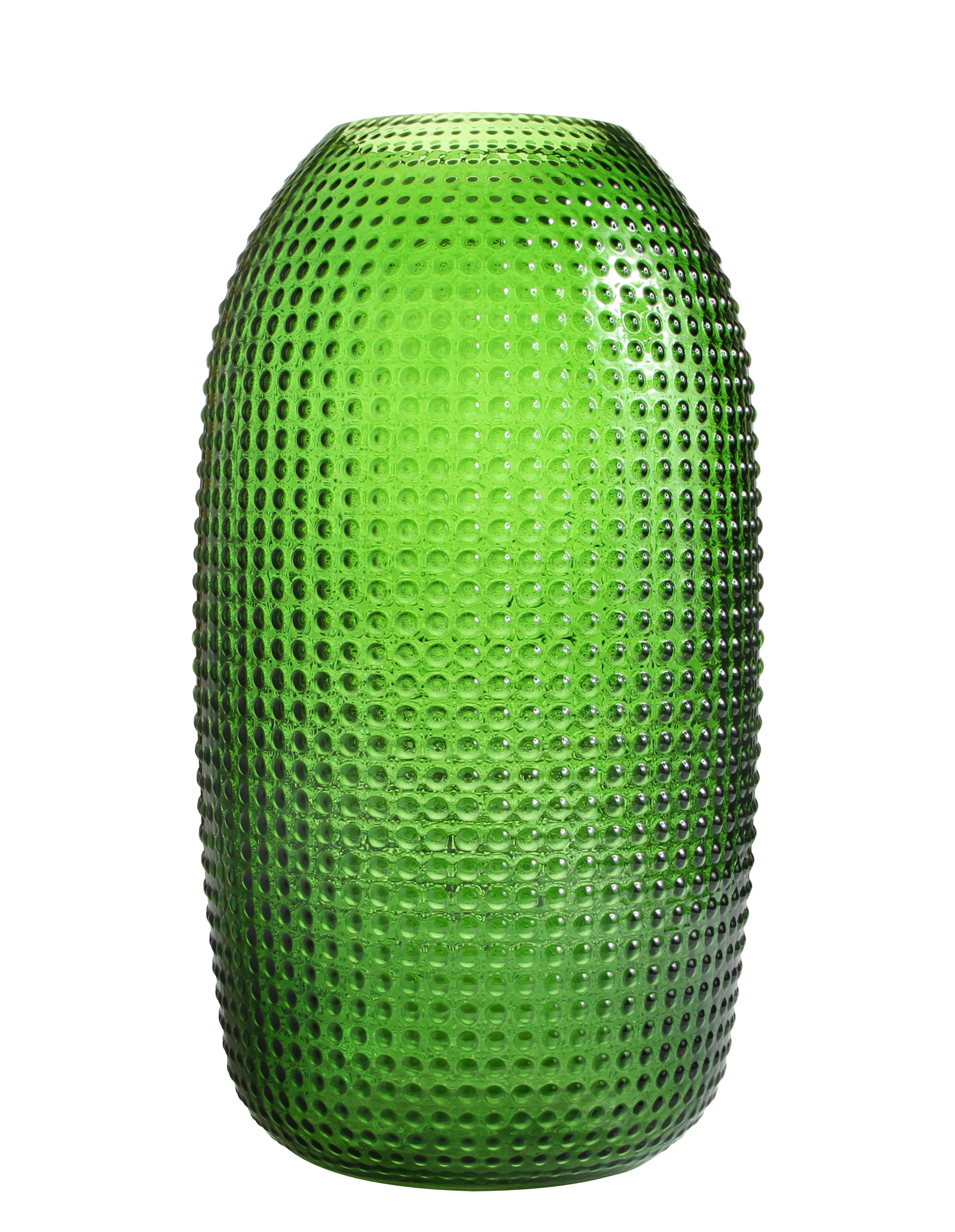 Dotted Large Vase Glas H 365 Cm Groß Grün By Klevering