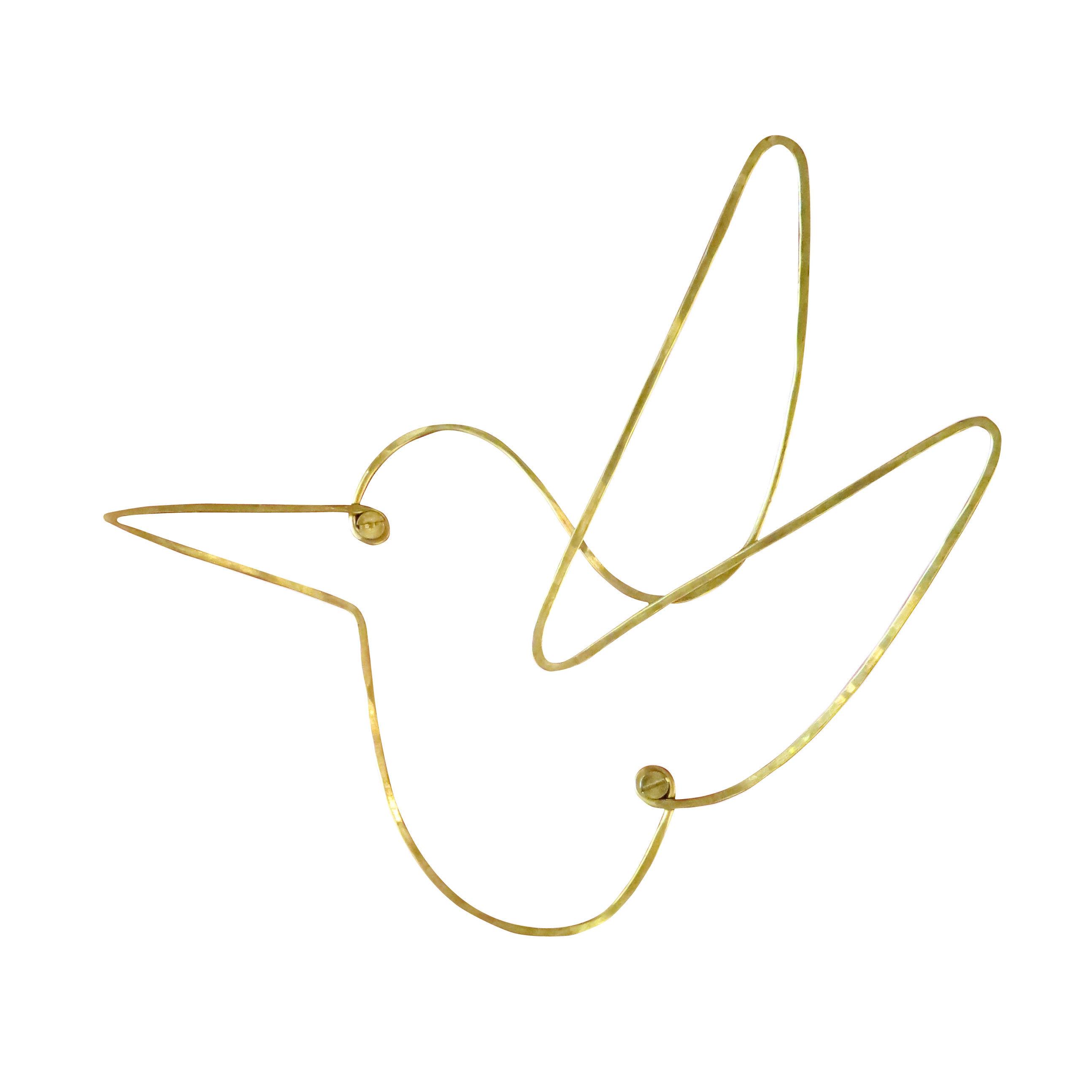 Dekoration - Dekorationsartikel - Silhouettes - Wandhalterung für Objekte Kolibri / messingfarben - Sentou Edition - Kolibri / messingfarben - Messing