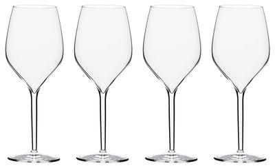 Tischkultur - Gläser - Vertical Large Weinglas / 50 cl - 4er Set - Italesse - Transparent - Glas