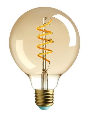 Ampoule LED filaments E27 Whirly Wyatt / 4W (15W) - 140 Lumen - Plumen doré en verre