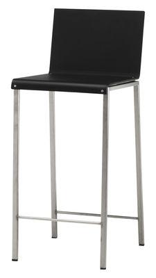 Chaise de bar Bianco Mat / H 64 cm - Zeus acier,noir mat en métal