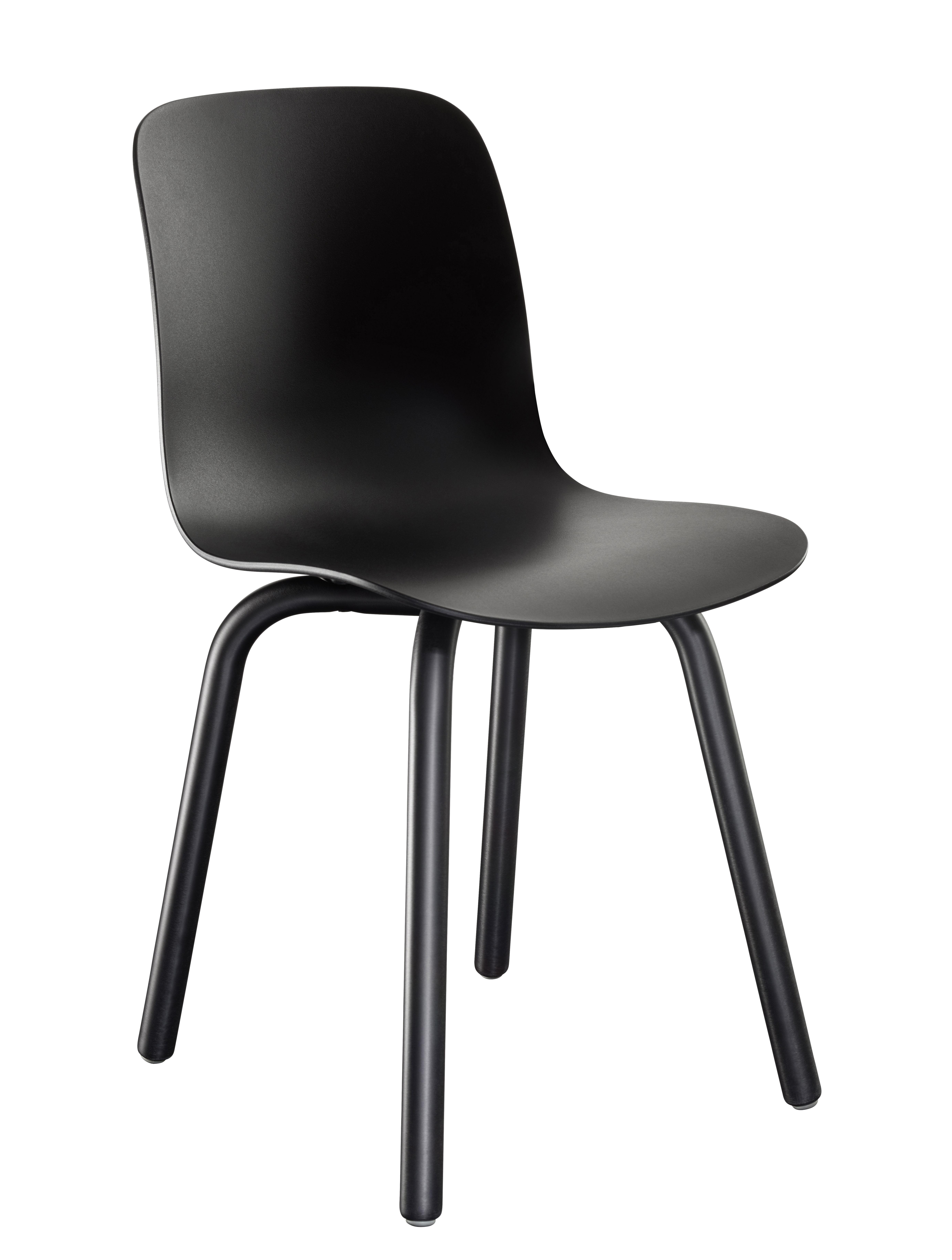 Mobilier - Chaises, fauteuils de salle à manger - Chaise empilable Substance Indoor / Plastique & pieds métal - Magis - Noir - Acier verni, Polypropylène