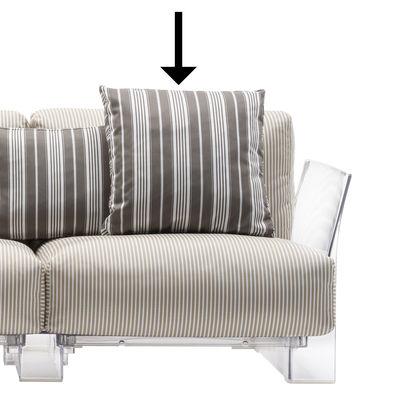 Furniture - Sofas - Cushion - / 48 x 48 cm by Kartell - 48 x 48 cm / Dove grey - Acrylic fabric, Expanded polyurethane