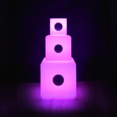 enceinte lumineuse bluetooth cube small outdoor light sounds 15 cm blanc h 15 made in. Black Bedroom Furniture Sets. Home Design Ideas
