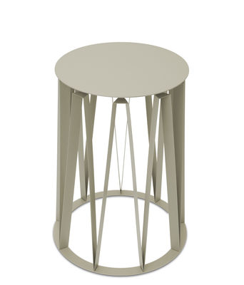 Furniture - Coffee Tables - Achille End table - / Ø 45 x H 58 cm - Metal by Presse citron - Mastic - Lacquered steel plate
