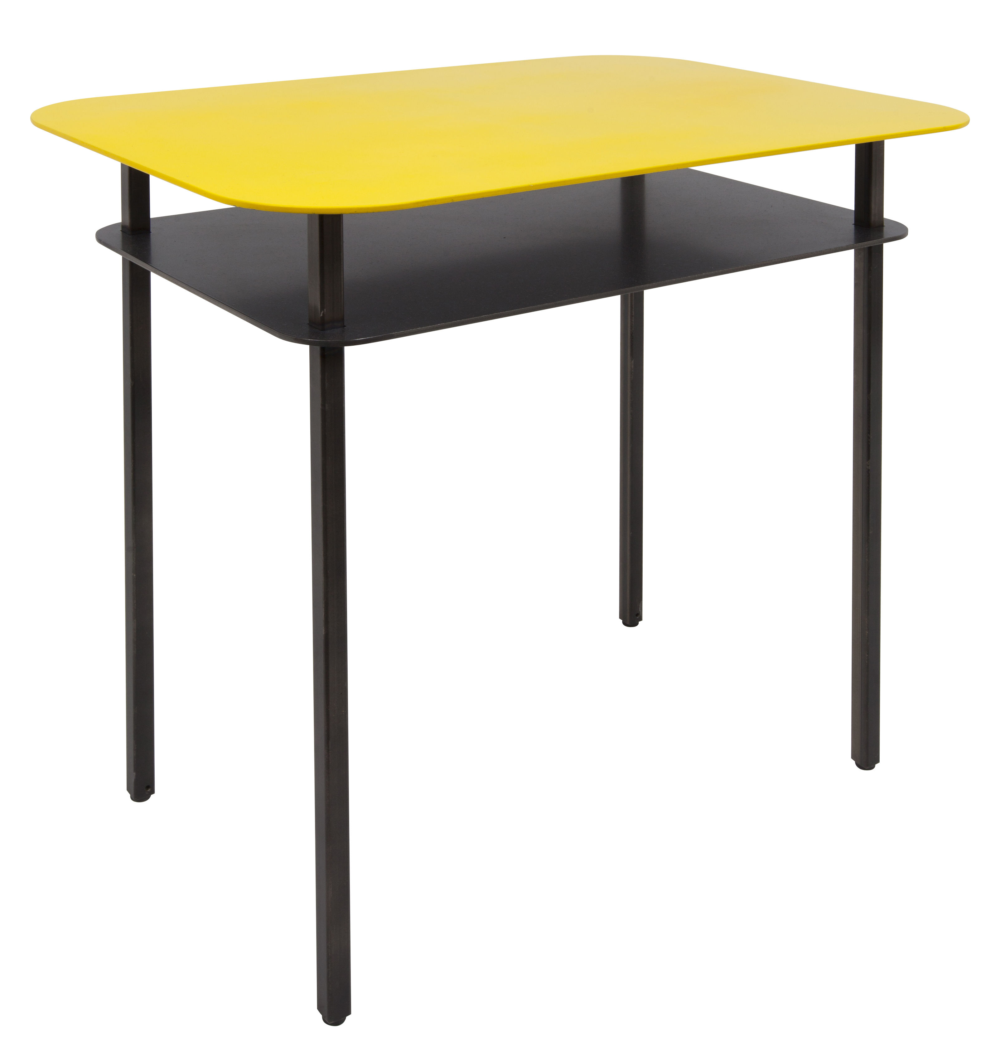 Furniture - Coffee Tables - Kara End table - Bedside table - 60 x 44 cm by Maison Sarah Lavoine - Yellow - Thermolacquered raw steel