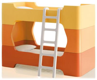 Möbel - Betten - Bunky Etagenbett / mit Leiter - ohne Matratze - 81 x 171 cm - Magis Collection Me Too - Orange - Polyäthylen