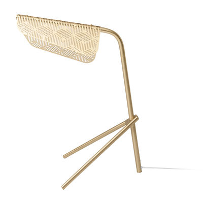 lampe de table mditerrana led laiton petite friture laiton en mtal - Table Ovale Scandinave2543