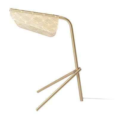 Lampe de table Méditerranéa LED / Laiton perforé - Petite Friture or/métal en métal