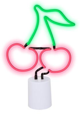 Déco - Pour les enfants - Lampe Neon Cerise Large / H 45 cm - Sunnylife - Cerise / Rouge & vert - ABS, Verre