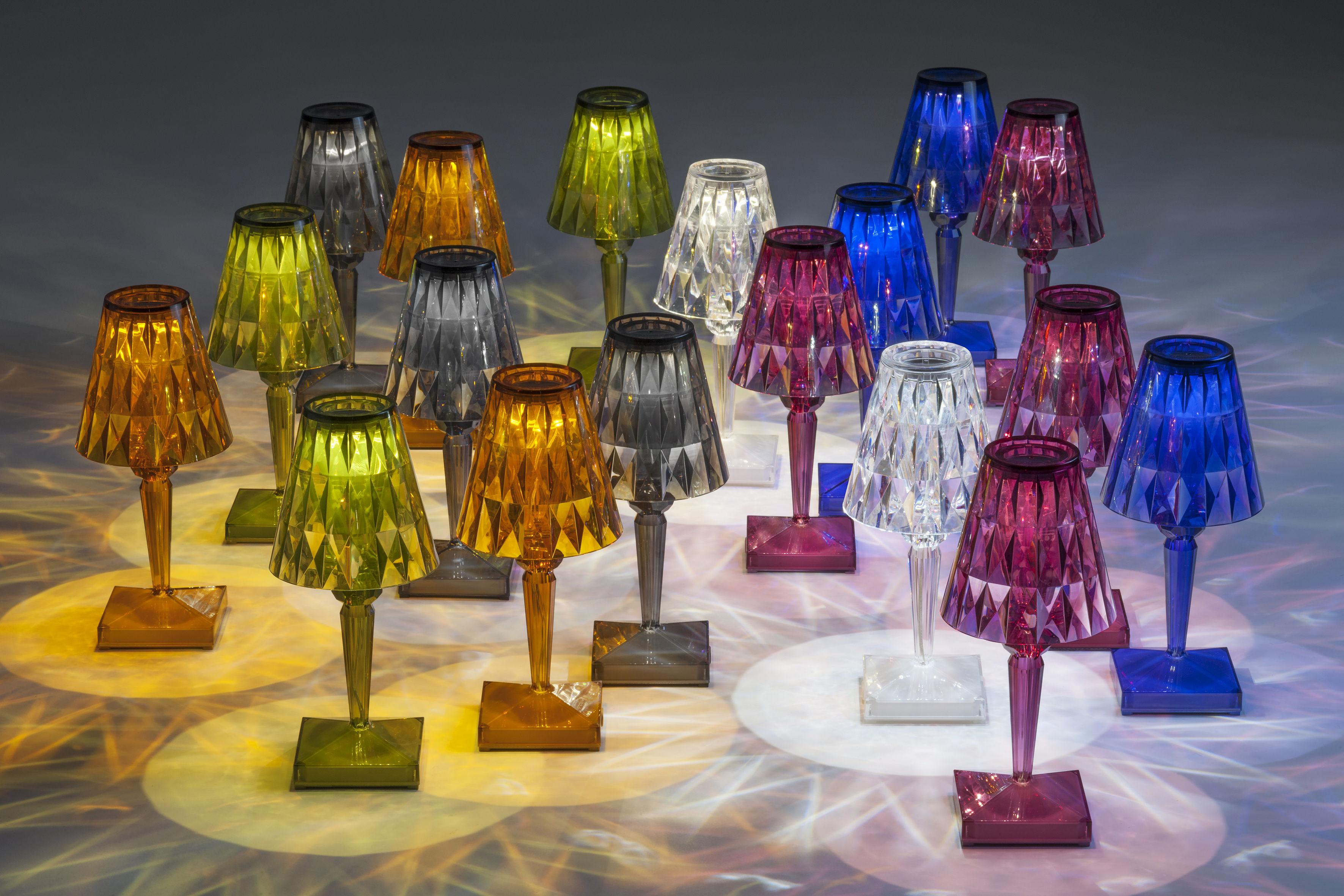 lampe sans fil battery led kartell prune h 22 x 13 made in design. Black Bedroom Furniture Sets. Home Design Ideas