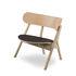 Oaki Low armchair - / Leather seat - Oak by Northern