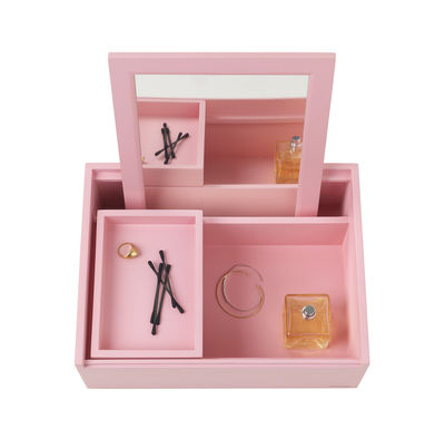 Decoration - Decorative Boxes - Balsabox Personal MINI Make up box - / Dressing table - 33 x 25 cm by Nomess - Pink - Plywood
