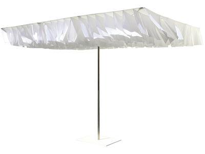 Outdoor - Ombrelloni - Ombrellone Breezer di Symo - Ombrellone bianco / Tetto bianco - Acciaio inossidabile, Tessuto poliestere